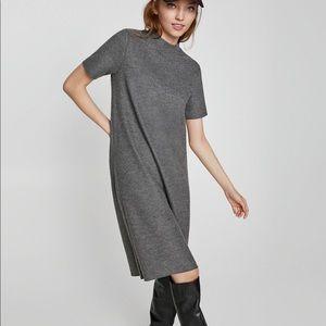 NWT Zara Gray Mock Neck Sweater Knit Dress